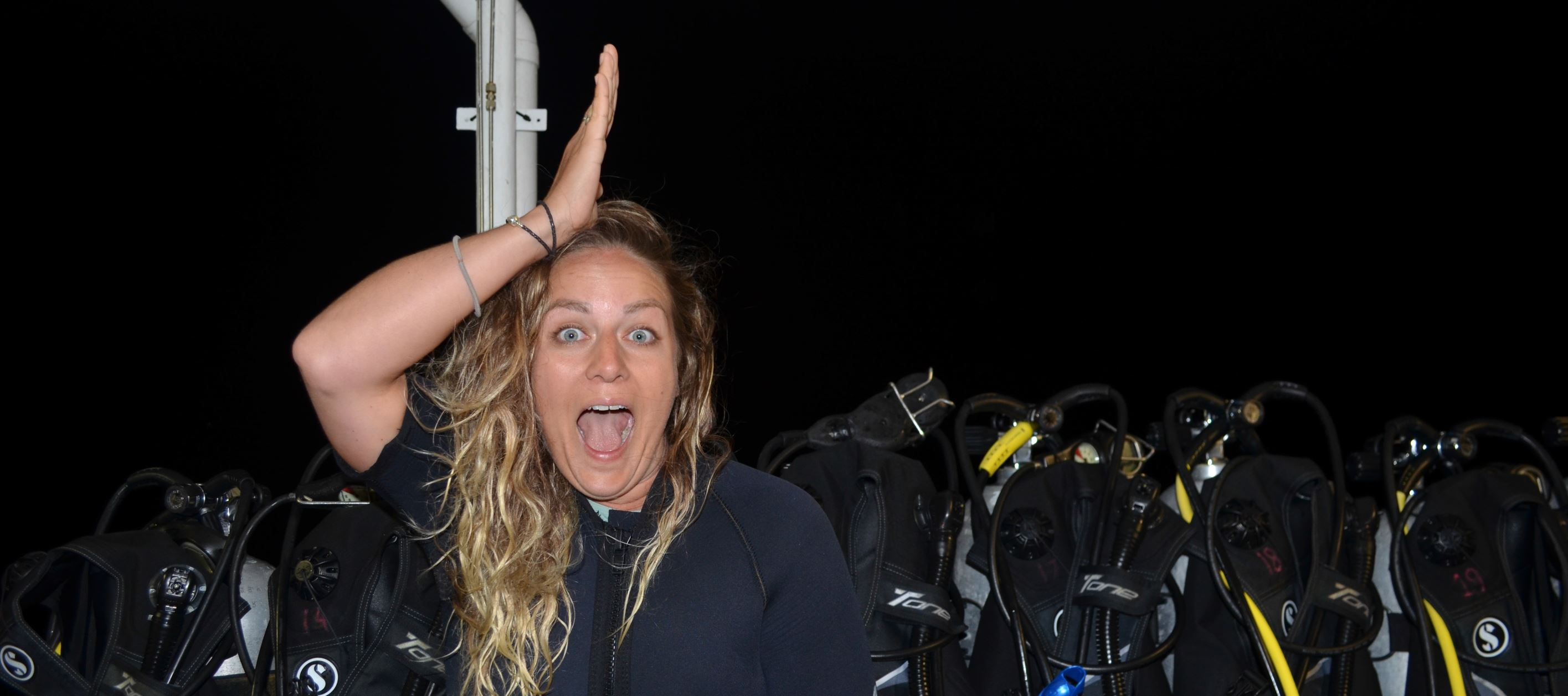 Night scuba diving