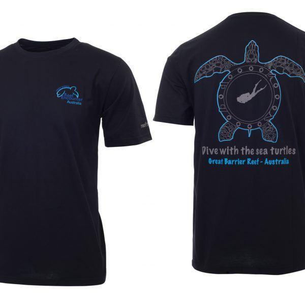 Reef Encounter Turtle Tshirt Black