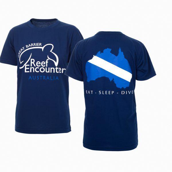 Reef Encounter Dive Flag Tshirt