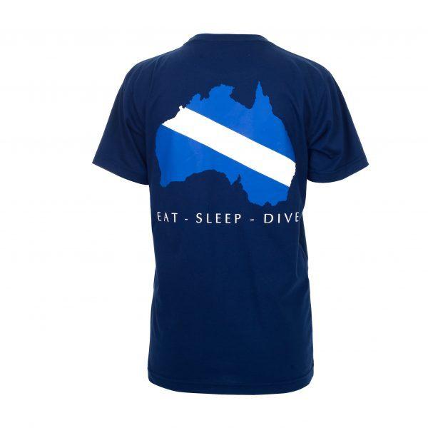 Reef Encounter Dive Flag Tshirt Back